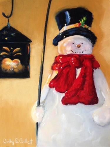 """Good Old Frosty"" original fine art by Cindy Gillett"
