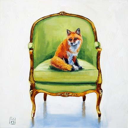 """with a fox"" original fine art by Kimberly Applegate"