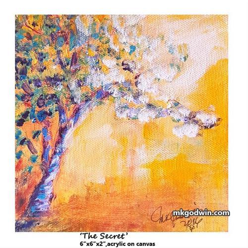"""The Secret"" original fine art by Marie K Godwin"
