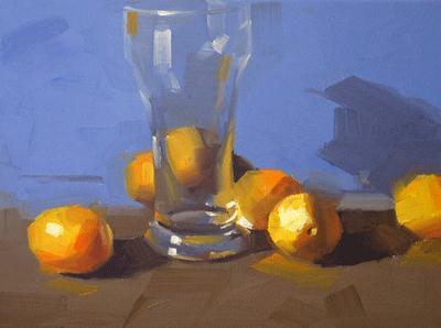 """Gold Melons"" original fine art by Qiang Huang"