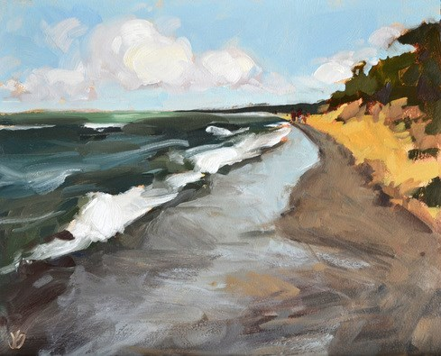 """Michigan Coast"" original fine art by Jessica Green"