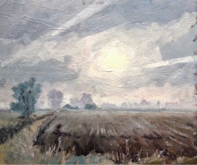 """Frosty Fields, Lincolnshire"" original fine art by Mo Teeuw"