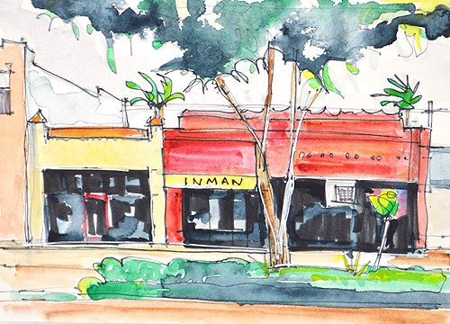"""Hillcrest Watercolor"" original fine art by Kevin Inman"