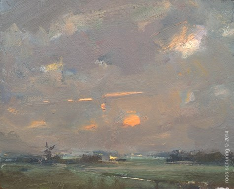 """""""Plein air Painting is the Key to better (Landscape) Painting"""" original fine art by Roos Schuring"""