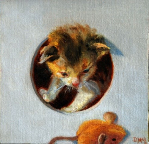 """Mini's Mouse"" original fine art by Dorothy McLennan"