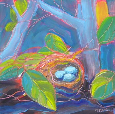 """""""Nest of Prosperity 12"""" original fine art by Pam Van Londen"""