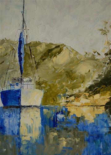 """Santa Cruz Island"" original fine art by Deborah Harold"