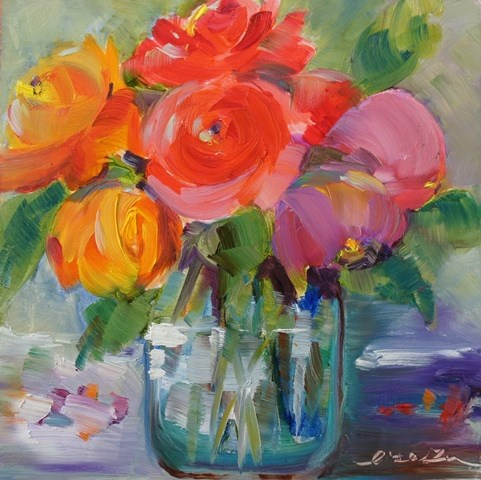 """La vie en rose-2"" original fine art by Lisa Fu"