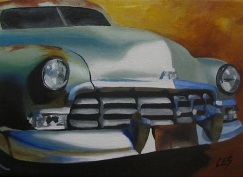 """1950 Mercury"" original fine art by ~ces~ Christine E. S. Code"