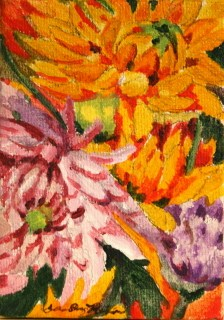 """Dahlias in August"" original fine art by JoAnne Perez Robinson"