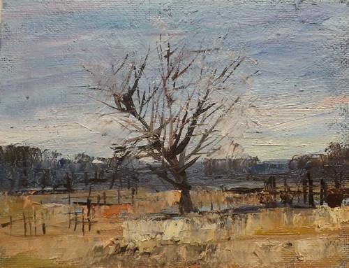 """Landscape,f23"" original fine art by Run-      Zhang Zane"