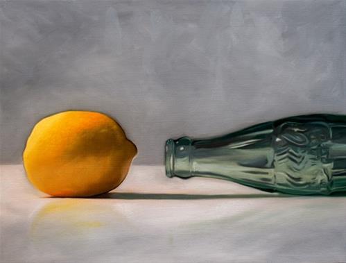 """Lemon Soda Bottle"" original fine art by Lauren Pretorius"