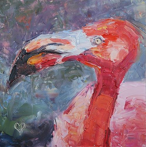 """Flamingo"" original fine art by Carol DeMumbrum"