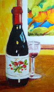 """Art and Wine"" original fine art by JoAnne Perez Robinson"