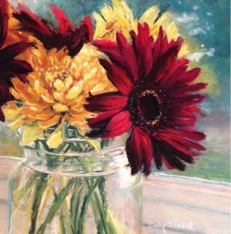 """""""Small Bouquet"""" original fine art by Cindy Gillett"""