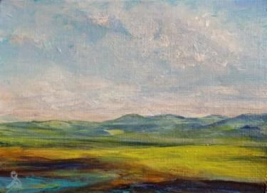 """3166 - FOOTHILLS ACEO - National Parks Series"" original fine art by Sea Dean"