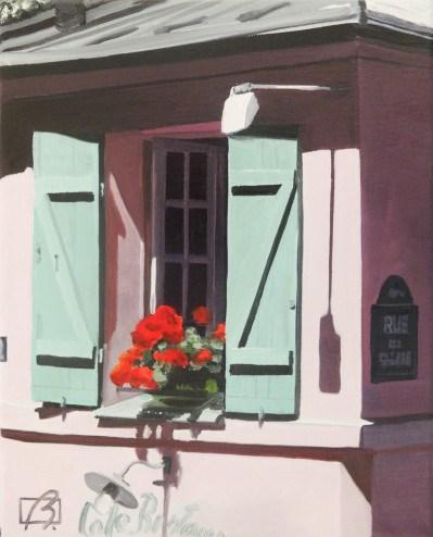 """""""La maison rose"""" original fine art by Andre Beaulieu"""