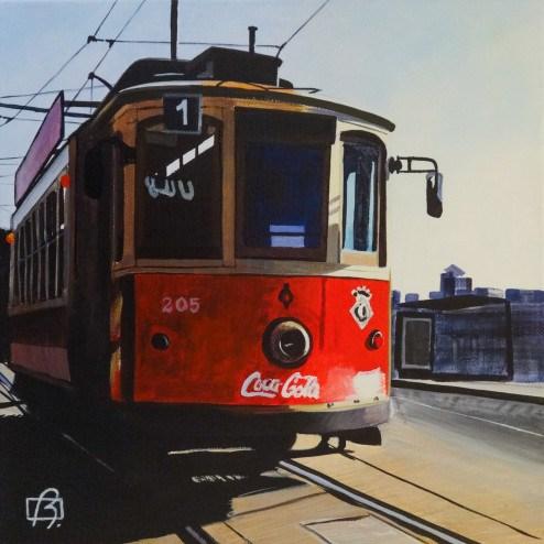 """""""Porto Tram"""" original fine art by Andre Beaulieu"""