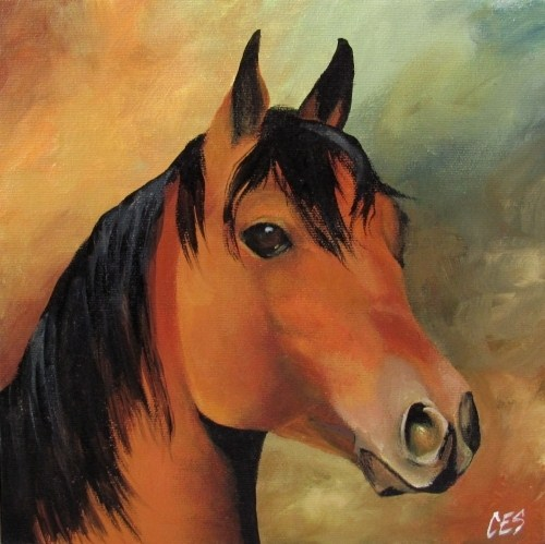 """Midnight Mane"" original fine art by ~ces~ Christine E. S. Code"