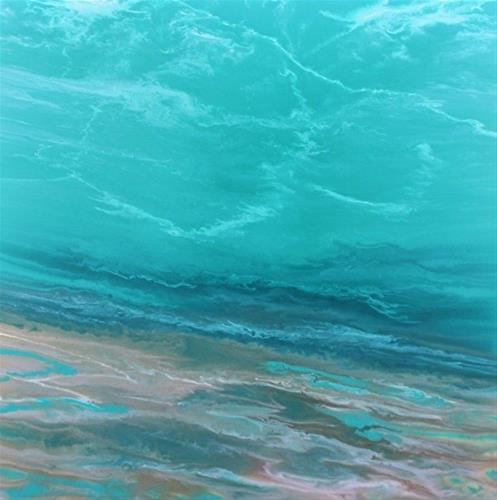 """Contemporary Abstract Seascape Painting  The Sea Cried Out by International Contemporary Landscape"" original fine art by Kimberly Conrad"