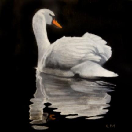 """Night Swim"" original fine art by Linda Mann"