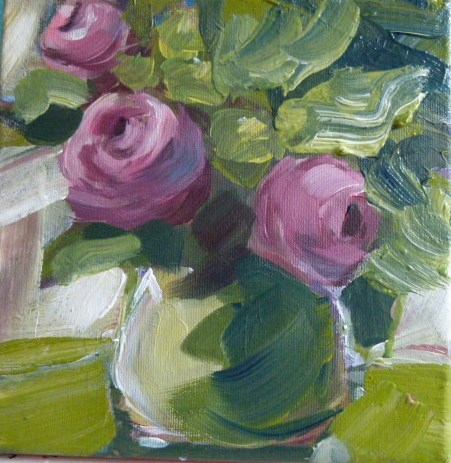 """Tearoses"" original fine art by Sabine Hüning"