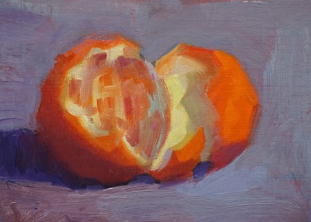 """Orange Appeal #2"" original fine art by Carol Myer"
