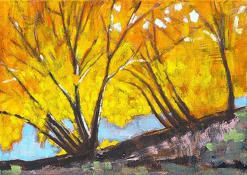 """Autumn Leaves"" original fine art by Kevin Inman"