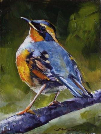 """WINTER ROBIN"" original fine art by Brian Cameron"