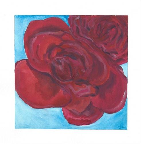"""Roses are Red"" original fine art by Laura Denning"