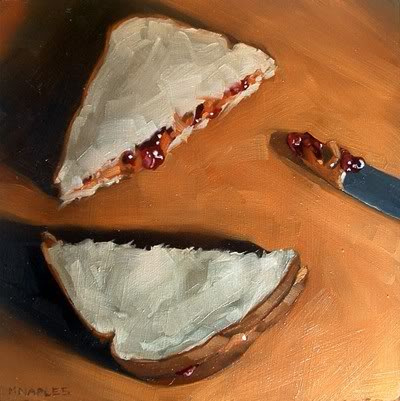 """PB and J with Milk (1 of 2)"" original fine art by Michael Naples"