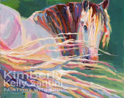 """Clarisse"" original fine art by Kimberly Santini"