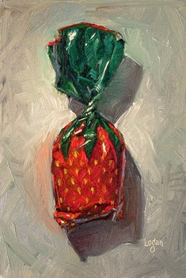 """Strawberry Candy"" original fine art by Raymond Logan"
