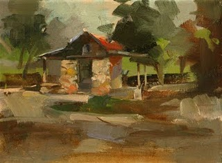 """Smoke House"" original fine art by Qiang Huang"
