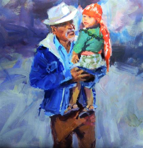 """grandpa's favorite"" original fine art by Richard Schiele"