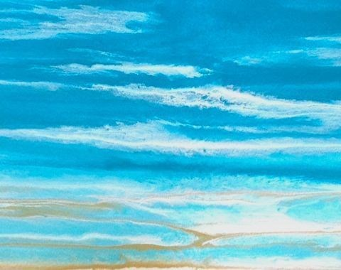 """Coastal Dreams-Study 2 by Kimberly Conrad"" original fine art by Kimberly Conrad"