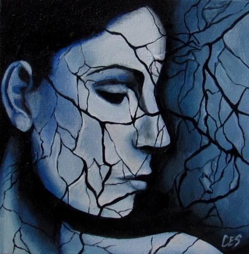 """Web of Lies"" original fine art by ~ces~ Christine E. S. Code"