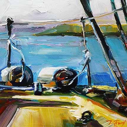 """""""Auf der Yacht"""" original fine art by Jurij Frey"""