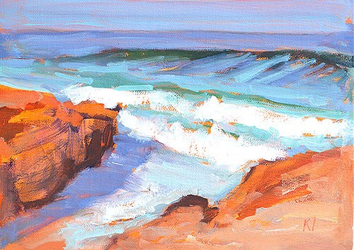 """Windansea Beach, La Jolla"" original fine art by Kevin Inman"