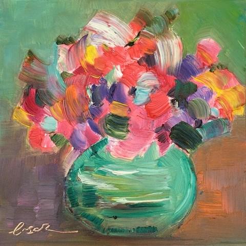 """Lovely Peas"" original fine art by Lisa Fu"