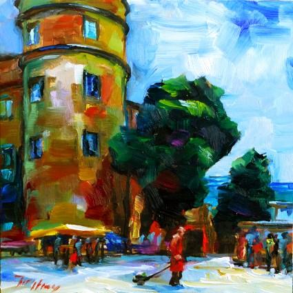 """stuttgarter market"" original fine art by Jurij Frey"