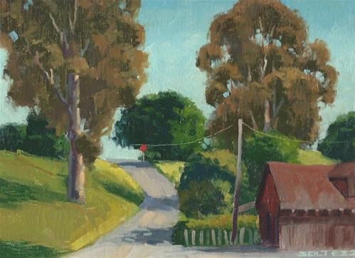 """Road to China Camp"" original fine art by J. Thomas soltesz"