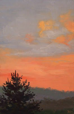 """Sunset in the Catskills"" original fine art by Abbey Ryan"