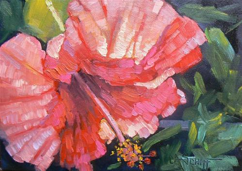 """Hibiscus Bloom"" original fine art by Carol Schiff"