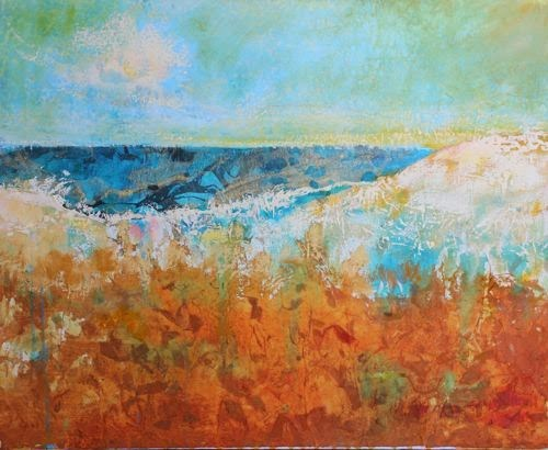 """Beach Dunes, Contemporary Landscape Paintings by Arizona Artist Amy Whitehouse"" original fine art by Amy Whitehouse"