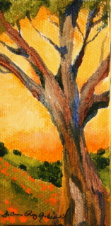 """Deep Yellow Sky"" original fine art by JoAnne Perez Robinson"
