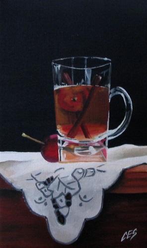 """Crab Apple Tea"" original fine art by ~ces~ Christine E. S. Code"
