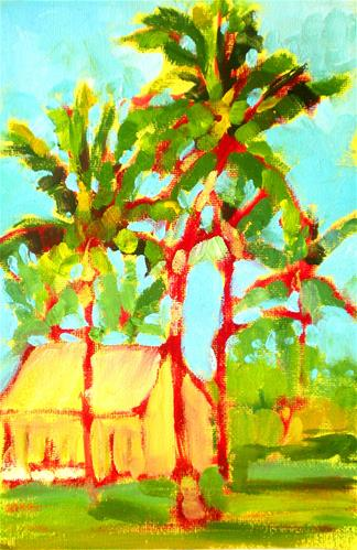 """King Kamehameha's Palms - 150523s"" original fine art by richard rochkovsky"