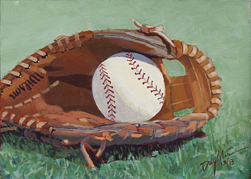 """Put Me In, Coach!"" original fine art by Mike Daymon"