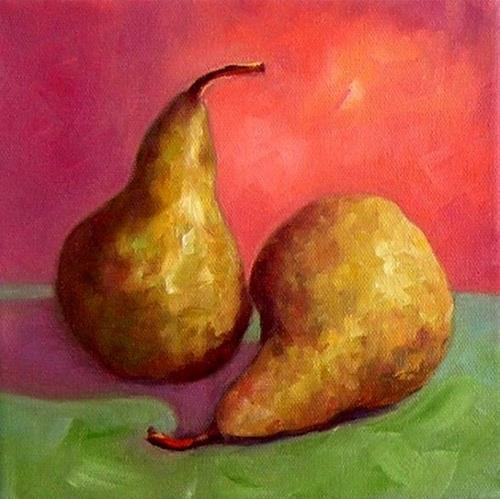 """Two Pears"" original fine art by Irina Beskina"